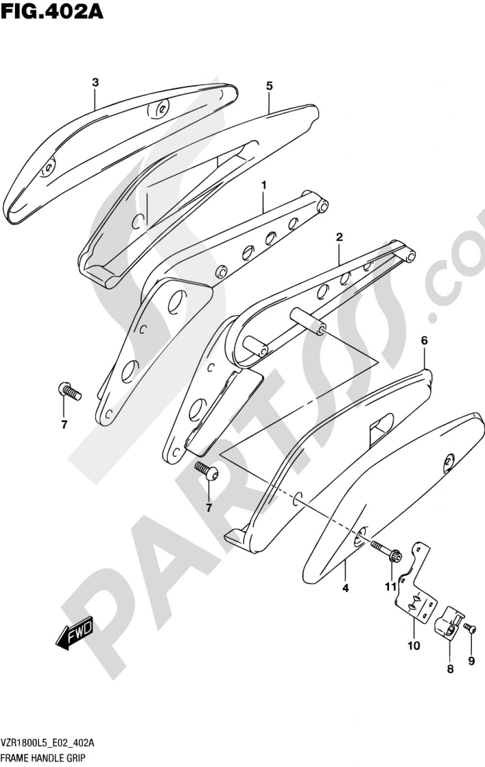 402A - FRAME HANDLE GRIP (VZR1800L5 E02) Suzuki VZR1800 2015