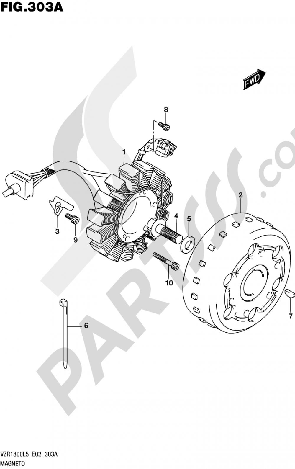 303A - MAGNETO Suzuki VZR1800 2015