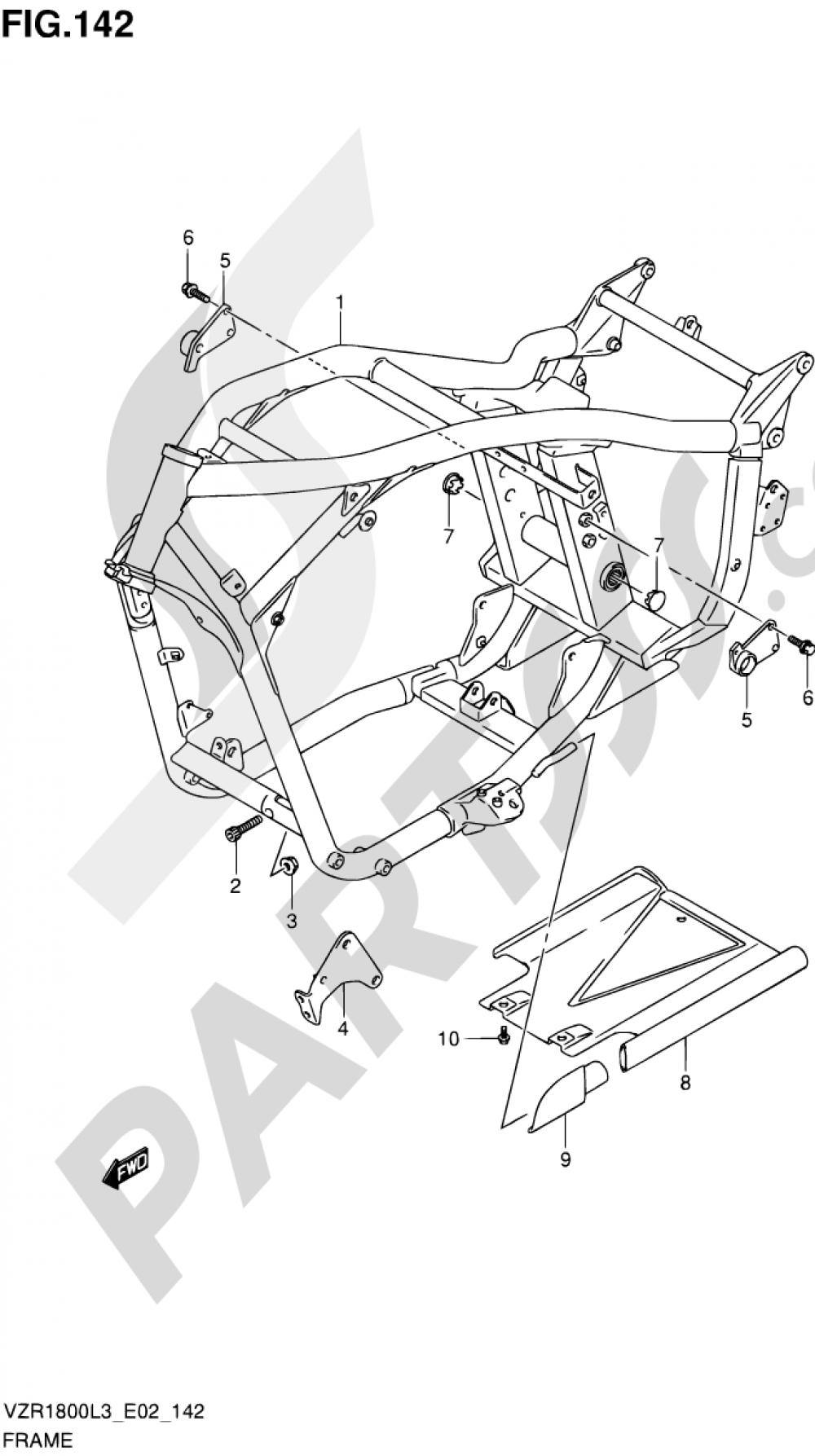 142 - FRAME Suzuki VZR1800Z 2013