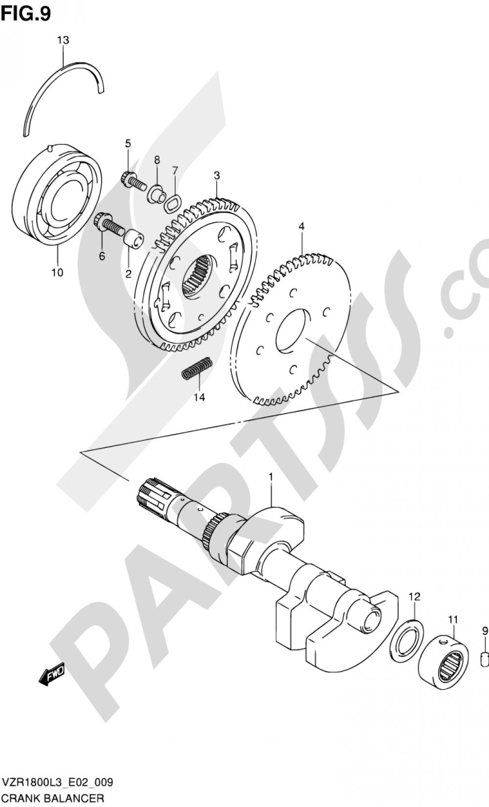 9 - CRANK BALANCER Suzuki VZR1800Z 2013