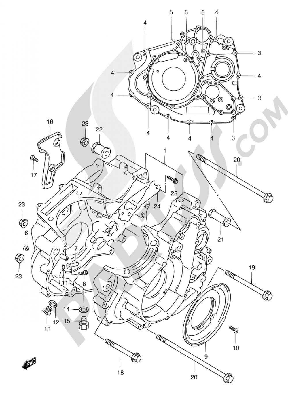 3 - CRANKCASE Suzuki FREEWIND XF650 2001