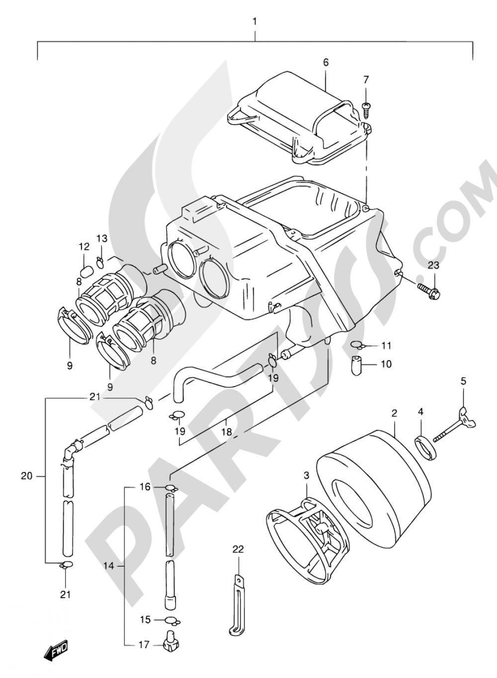11 - AIR CLEANER Suzuki FREEWIND XF650 1998