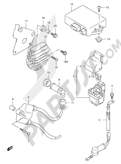 Suzuki Freewind Xf650 2000 Dissassembly Sheet Purchase Genuine