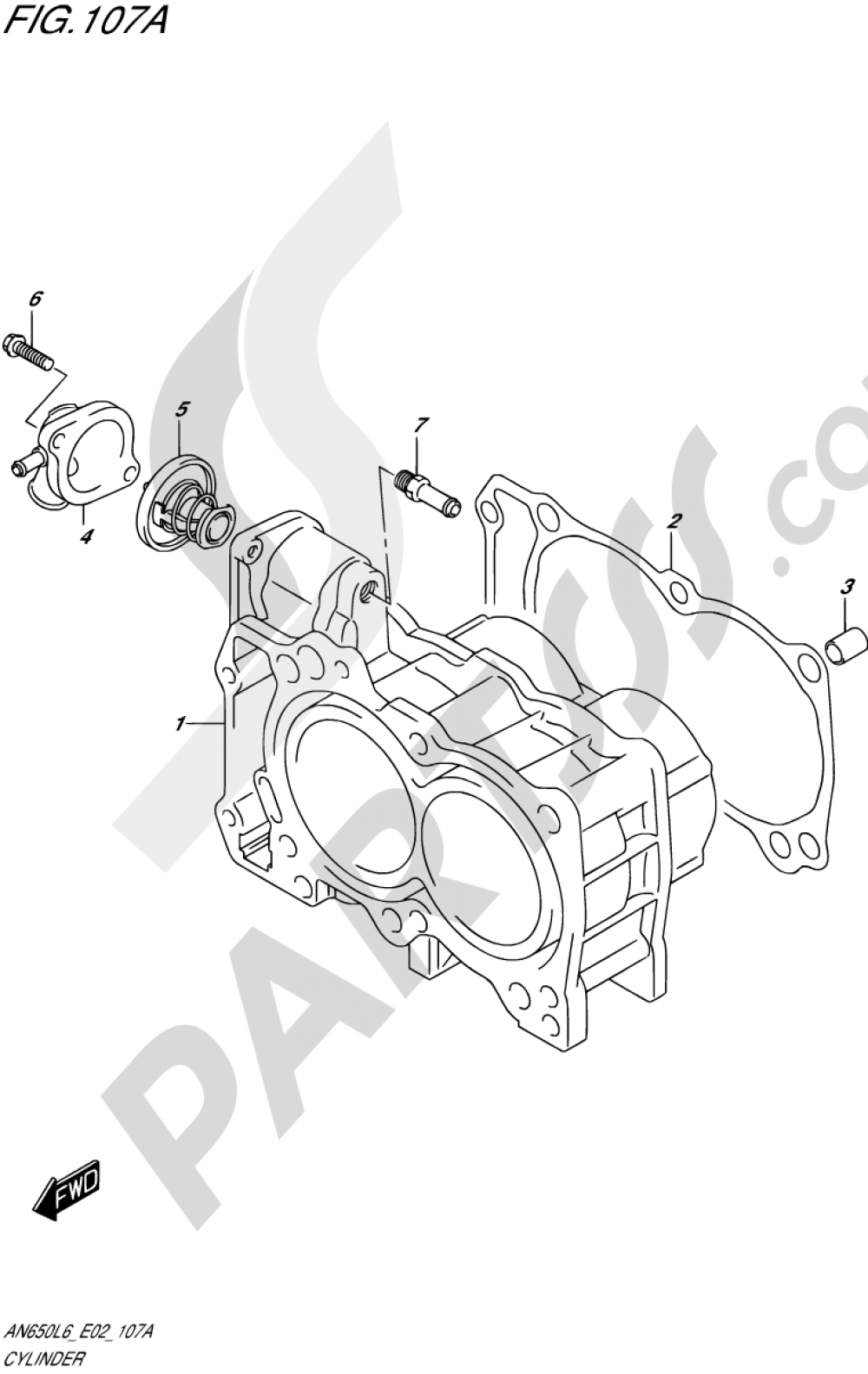 107A - CYLINDER Suzuki BURGMAN AN650Z 2016