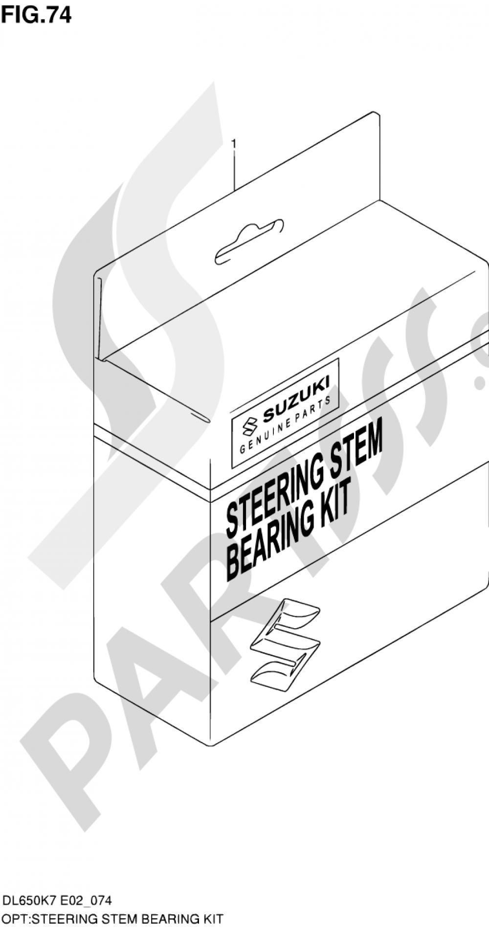 74 - STEERING STEM BEARING KIT Suzuki VSTROM DL650A 2007