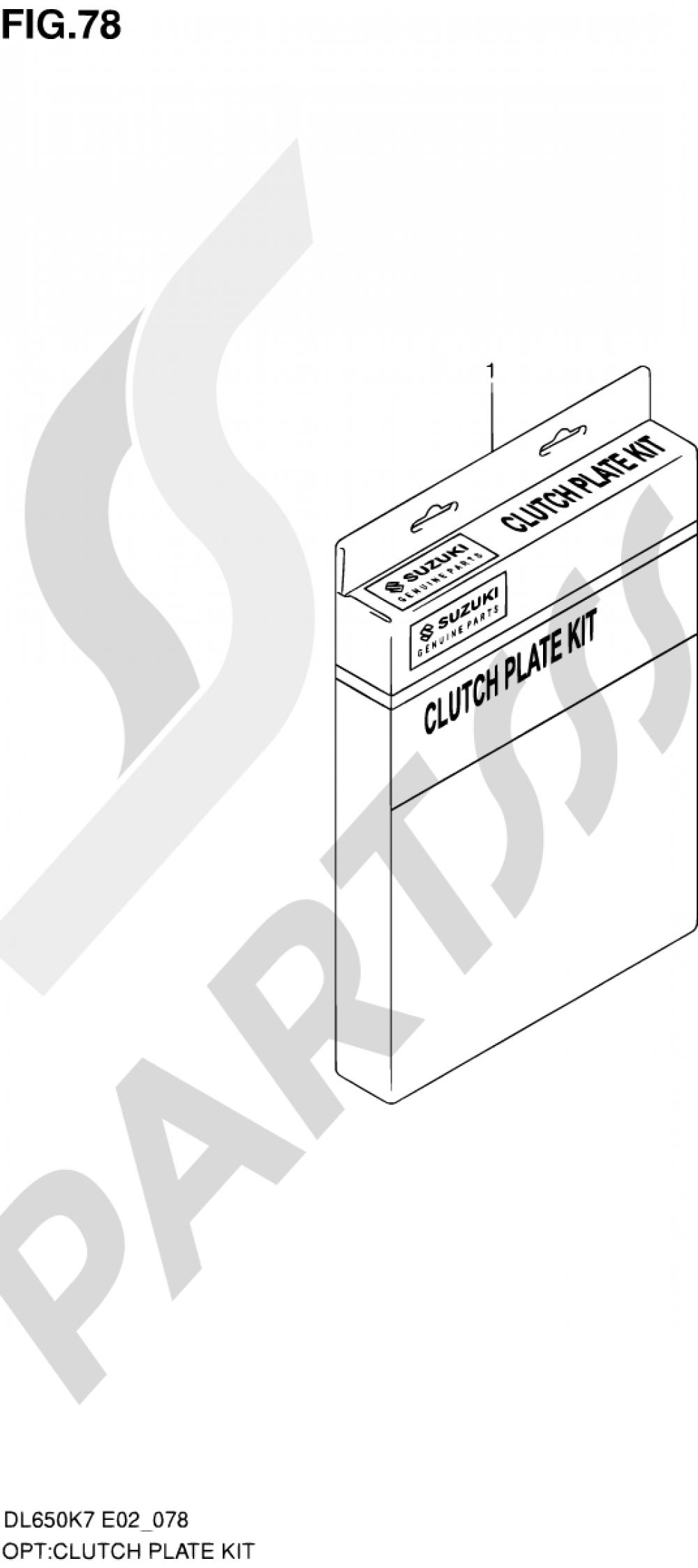 78 - CLUTCH PLATE KIT Suzuki VSTROM DL650A 2009