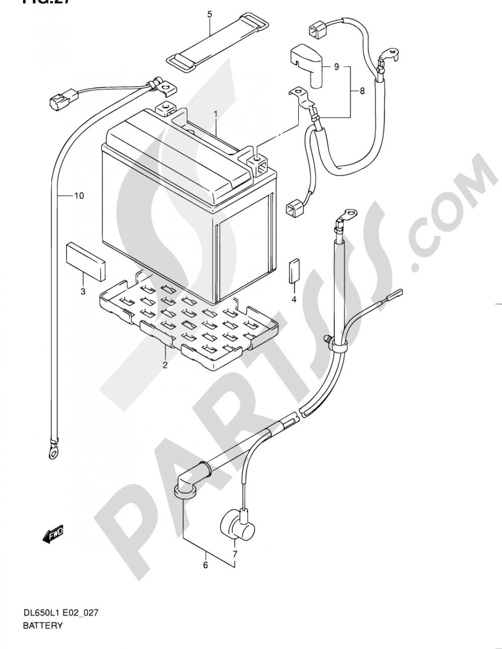 27 - BATTERY (DL650L1 E02) Suzuki VSTROM DL650A 2011