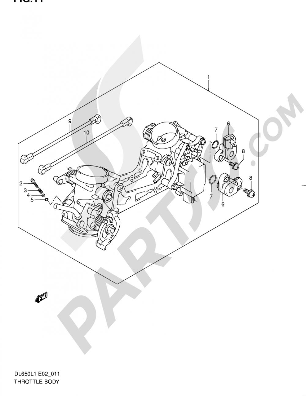 11 - THROTTLE BODY Suzuki VSTROM DL650A 2011
