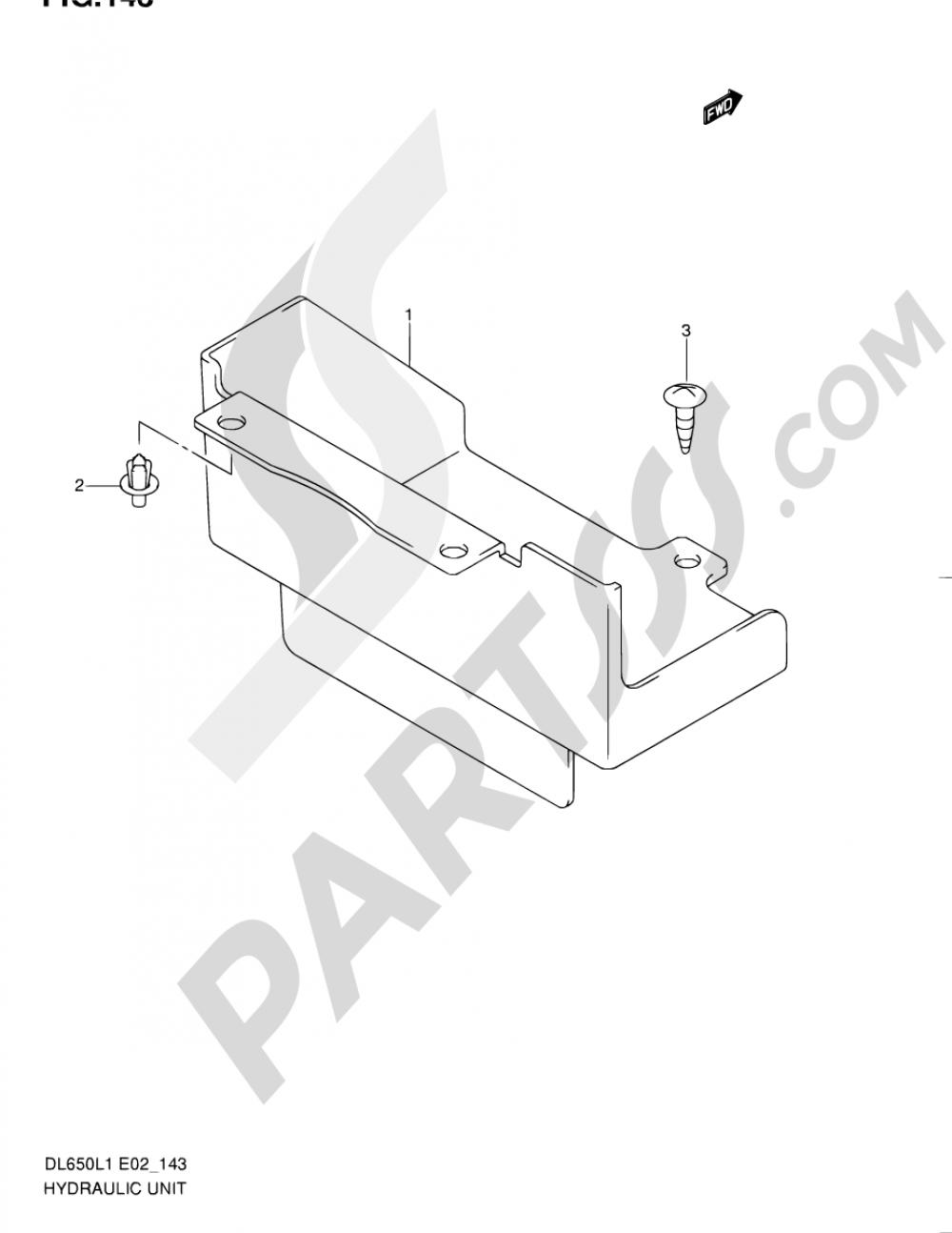 143 - HYDRAULIC UNIT (DL650L1 E24) Suzuki VSTROM DL650A 2011