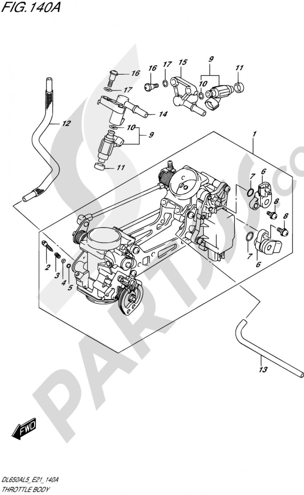 140A - THROTTLE BODY Suzuki VSTROM DL650A 2015
