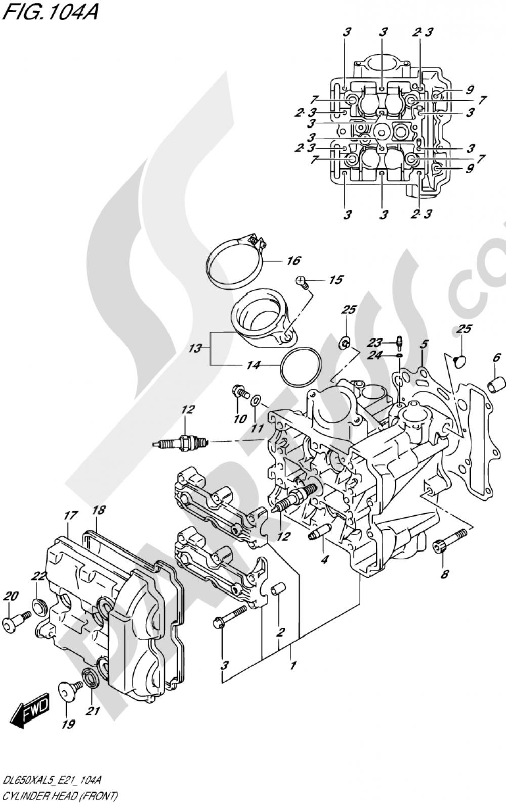 104A - CYLINDER HEAD (FRONT) Suzuki VSTROM DL650XA 2015