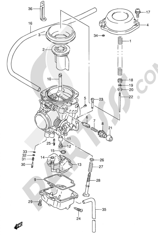 11A - CARBURETOR (MODEL N/P/R/S) Suzuki DR650RSE 1992