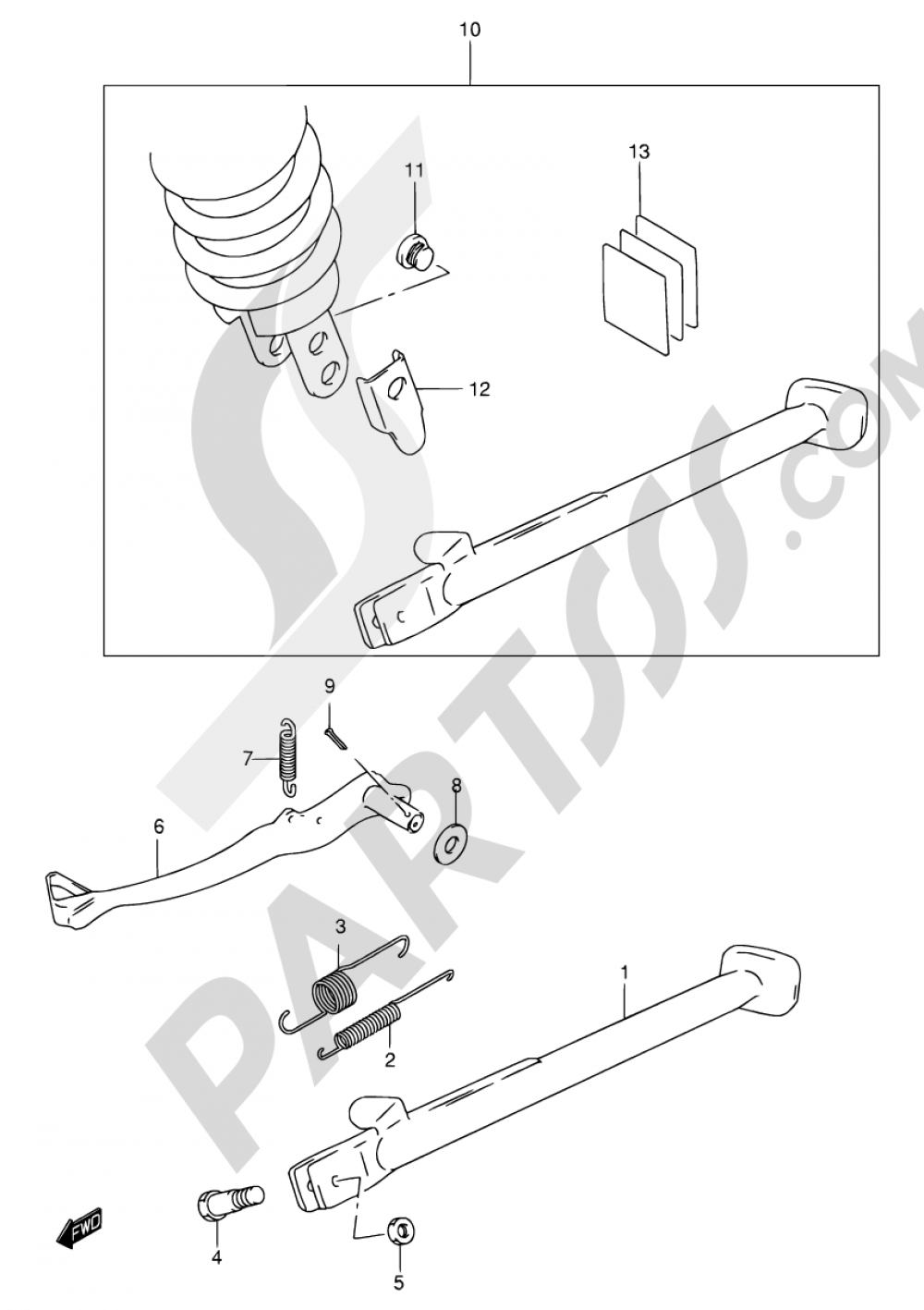 31 Stand Rear Brake Suzuki Dr650se 2001 Wiring Diagram
