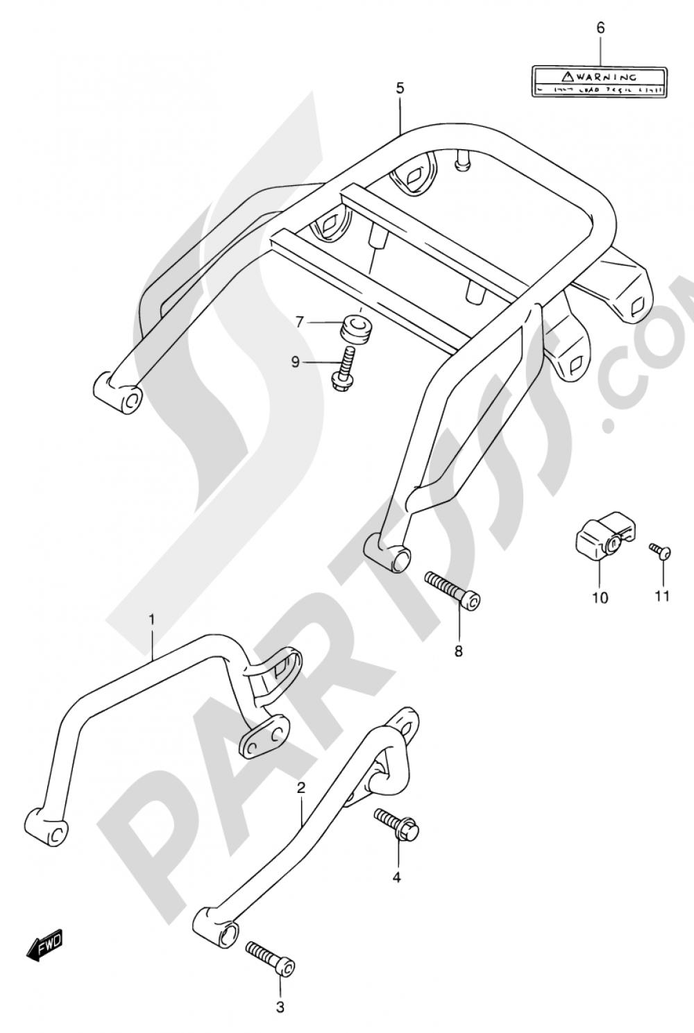 33 - GRIP - CARRIER (MODEL K1) Suzuki DR650SE 2001