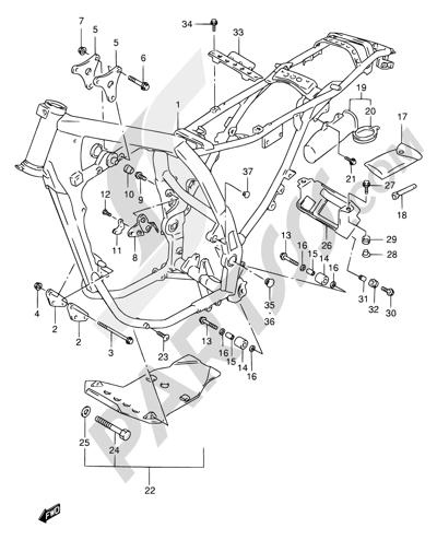 Suzuki DR650SE 1998 28 - FRAME (MODEL T/V/W)