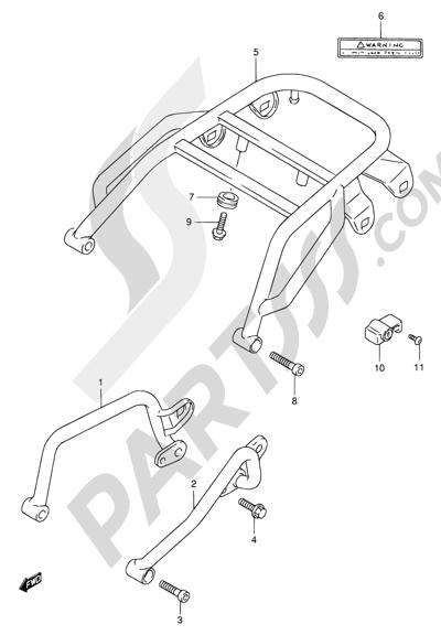 Suzuki DR650SE 1998 31A - GRIP - CARRIER (MODEL V/W)