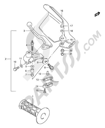 Suzuki DR650SE 1998 38 - LEFT HANDLE LEVER
