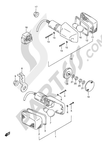 Suzuki DR650SE 1998 24 - TURN SIGNAL LAMP