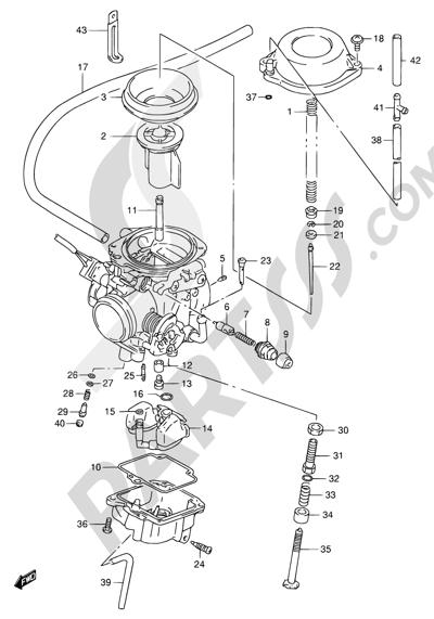 Suzuki DR650SE 1998 10 - CARBURETOR