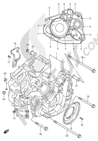 Suzuki DR650SE 1998 3 - CRANKCASE