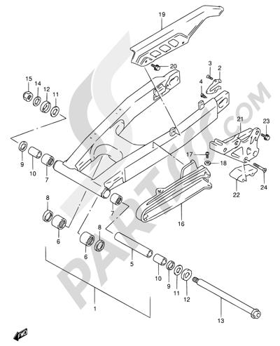 Suzuki DR650SE 1998 47 - REAR SWINGING ARM
