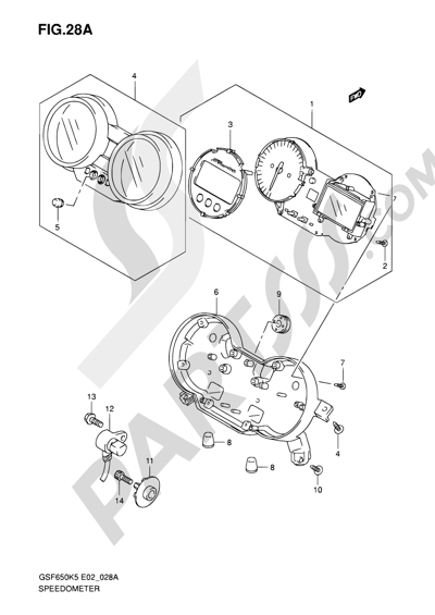 Suzuki Bandit Gsf650 2005 Dissassembly Sheet Purchase Genuine Spare