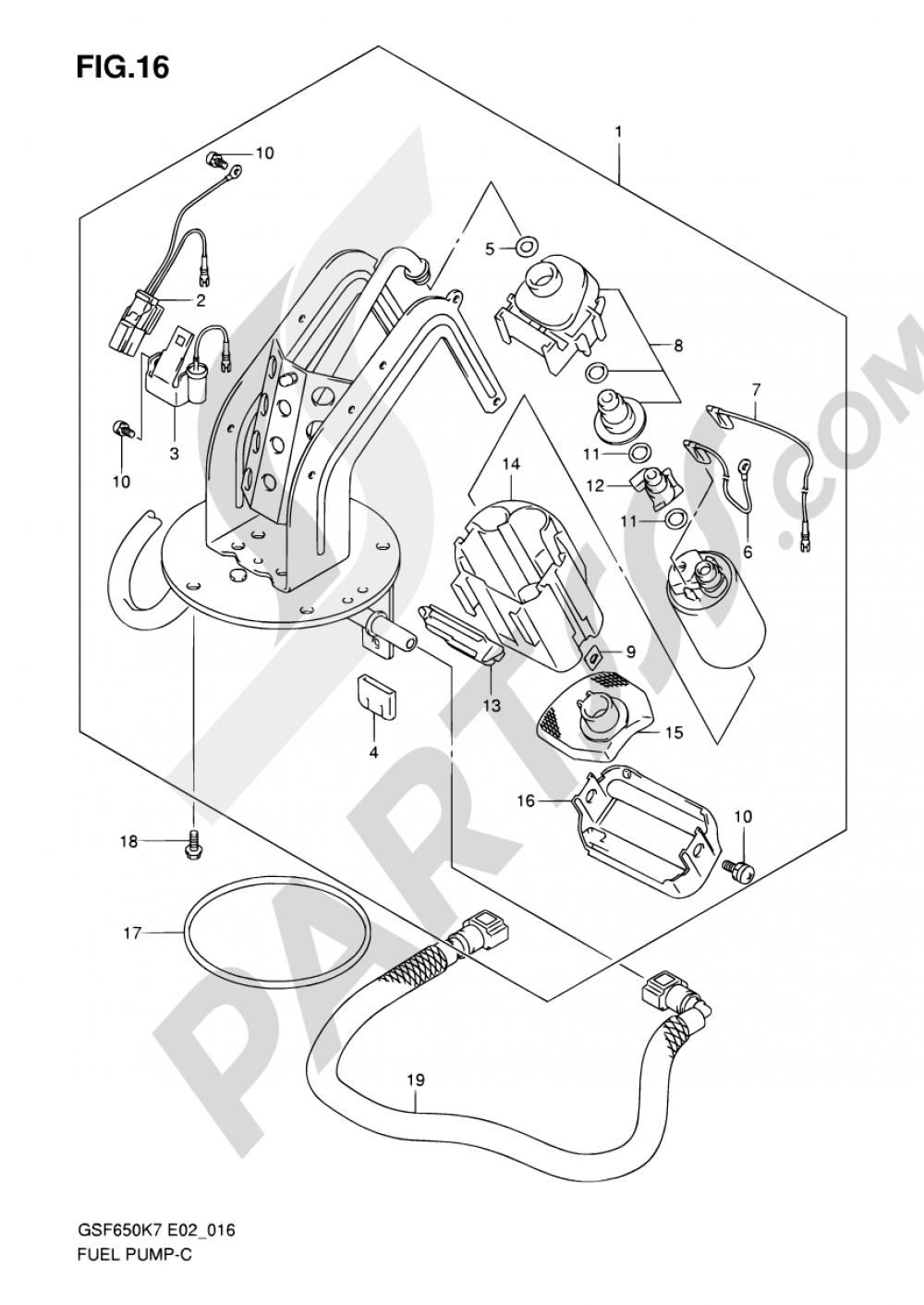 16 - FUEL PUMP Suzuki BANDIT GSF650 2008