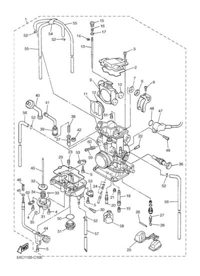 Yz250f Carburetor Diagram
