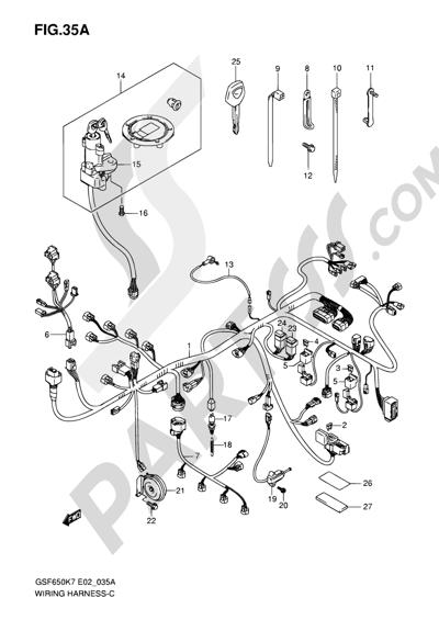 despiece suzuki bandit gsf650s 2007 repuestos originales chevy truck wiring harness