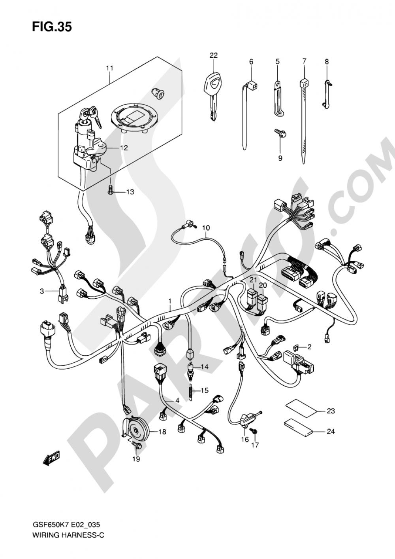 35 - WIRING HARNESS (GSF650SK7/SK8/SUK7/SUK8) Suzuki BANDIT GSF650S 2007
