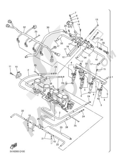 Yamaha FZ6 Fazer 2005 INTAKE 2