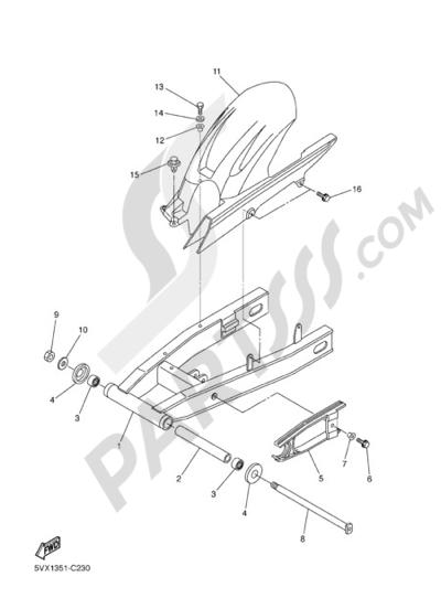 Yamaha FZ6 Fazer 2005 REAR ARM