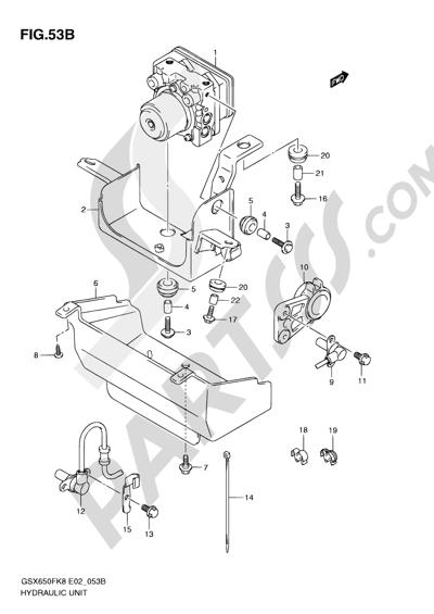 Suzuki Gsx650f 2009 Dissassembly Sheet Purchase Genuine Spare Parts