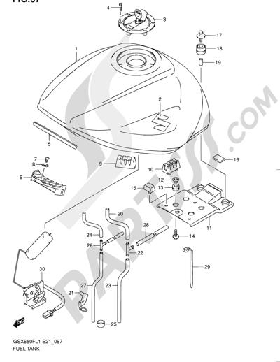 Suzuki Gsx650f 2011 Dissassembly Sheet Purchase Genuine Spare Parts