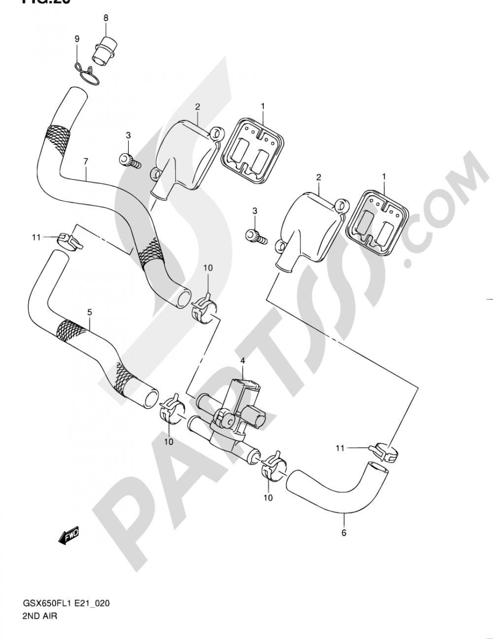 20 - 2ND AIR Suzuki GSX650F 2011