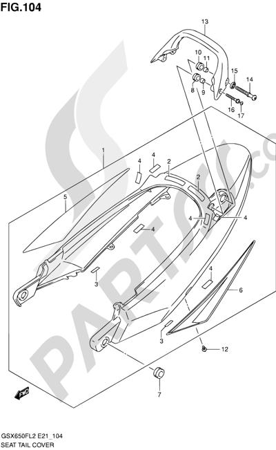 Suzuki GSX650F 2012 104 - SEAT TAIL COVER