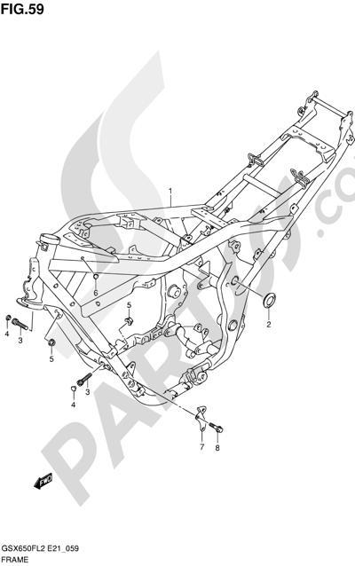 Suzuki GSX650F 2012 59 - FRAME