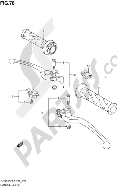 Suzuki GSX650F 2012 78 - HANDLE LEVER (GSX650FL2 E24)