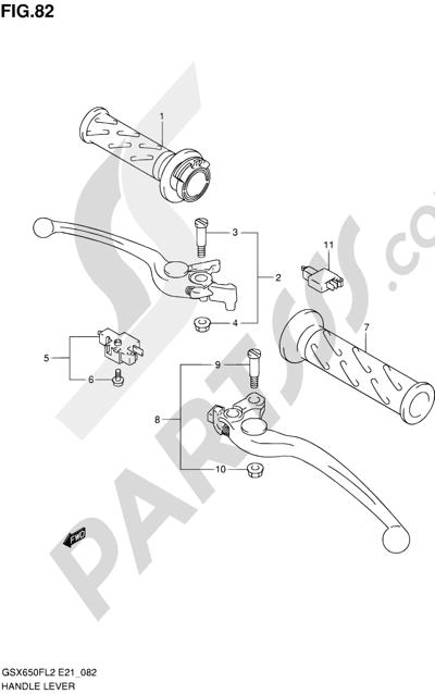 Suzuki GSX650F 2012 82 - HANDLE LEVER (GSX650FUAL2 E21)