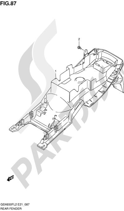 Suzuki GSX650F 2012 87 - REAR FENDER (GSX650FAL2 E21)