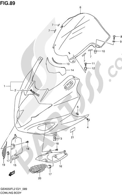 Suzuki GSX650F 2012 89 - COWLING BODY