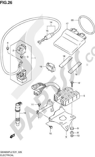 Suzuki GSX650F 2012 26 - ELECTRICAL (GSX650FL2 E21)