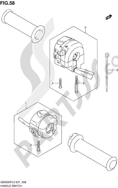 Suzuki GSX650F 2012 58 - HANDLE SWITCH