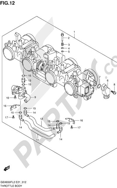 Suzuki GSX650F 2012 12 - THROTTLE BODY