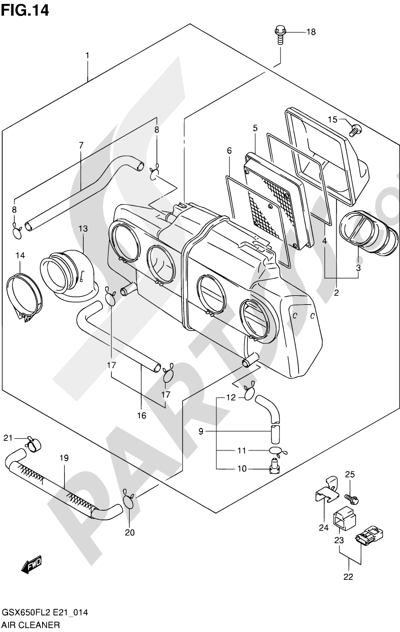 Suzuki GSX650F 2012 14 - AIR CLEANER
