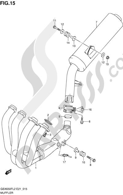 Suzuki GSX650F 2012 15 - MUFFLER
