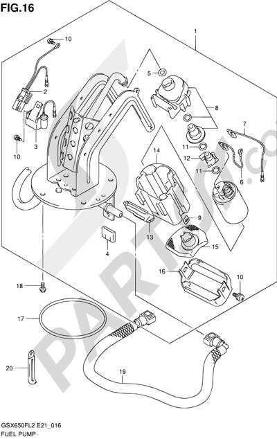 Suzuki GSX650F 2012 16 - FUEL PUMP