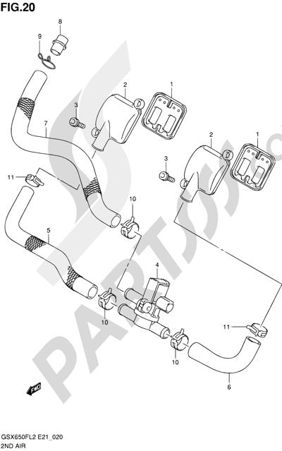 Suzuki GSX650F 2012 20 - 2ND AIR