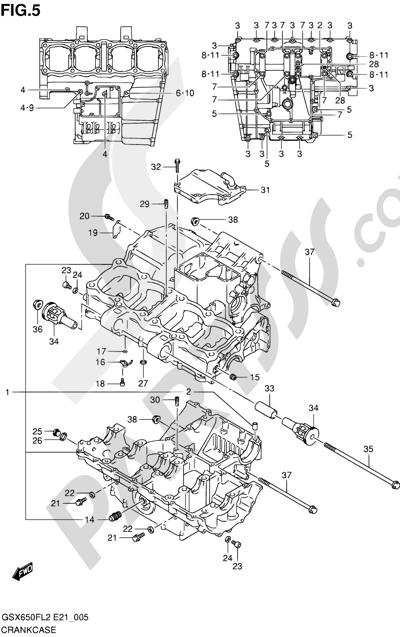 Suzuki GSX650F 2012 5 - CRANKCASE