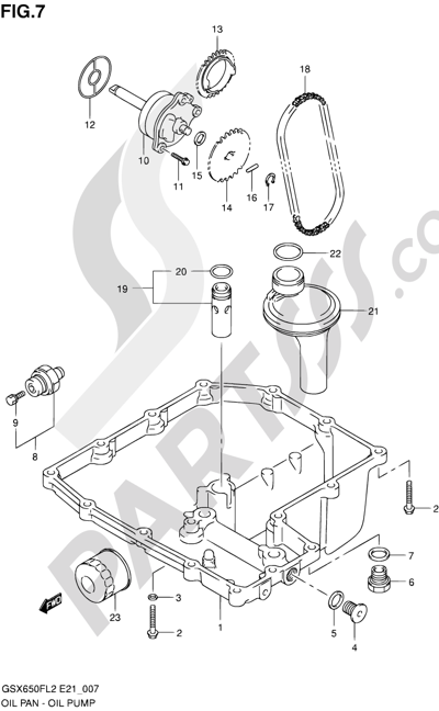 Suzuki GSX650F 2012 7 - OIL PAN - OIL PUMP